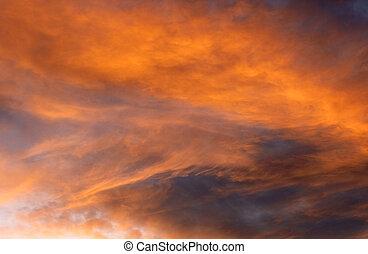 eteryczny, chmury
