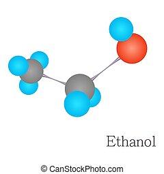 Ethanol 3D molecule chemical science - Ethanol 3D molecule....