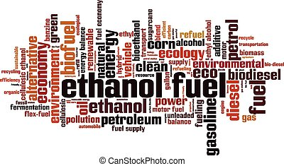 Ethanol fuel word cloud