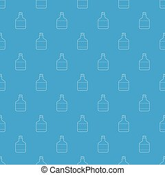 Ethanol in bottle pattern vector seamless blue repeat for...