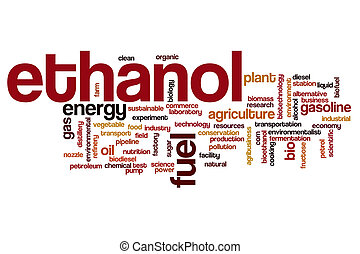 Ethanol word cloud concept