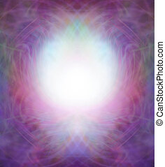 Ethereal Energy Field Border - Pink and purple intricate...
