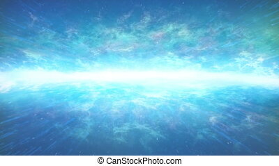 Ethereal Glowing Horizon In Space - Bright energy horizon...