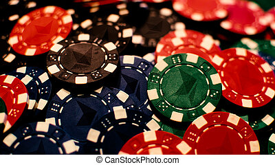 Ethereum chips - Colored poker chips with ethereum