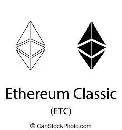 Ethereum classic black silhouette - Black ethereum classic...