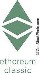 Ethereum Classic Cryptocurrency Coin Sign Isolated