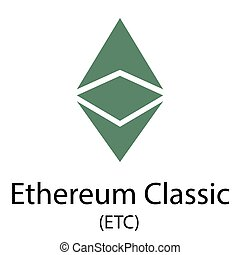 Ethereum classic cryptocurrency symbol - Colorful ethereum...
