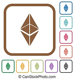 Ethereum classic digital cryptocurrency simple icons