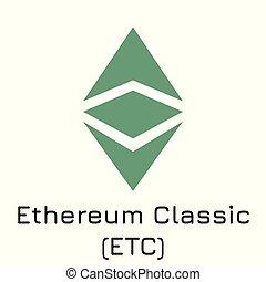 Ethereum Classic (ETC). Vector illustration crypt - Vector...