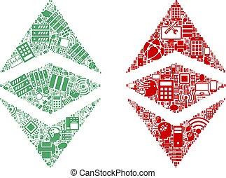 Ethereum Classic Mosaic Icons for BigData - Ethereum Classic...
