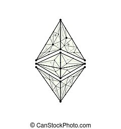 Ethereum classic outline silhouette