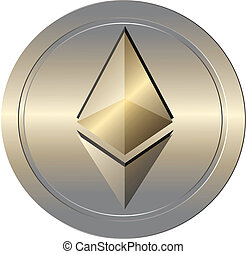 Ethereum coin - Illustration of ethereum coin digital crypto...