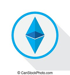 Ethereum, crypto currency flat style vector illustration