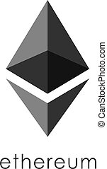 Ethereum Cryptocurrency Coin Sign Isolated
