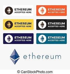 Ethereum cryptocurrency logo - Ethereum cryptocurrency icon...