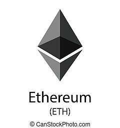 Ethereum cryptocurrency symbol - Colorful ethereum...