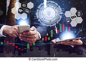 Ethereum ETH and Cryptocurrency Trading Concept - Ethereum ...