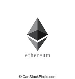 Ethereum Icon, Vector - Ethereum Symbol Vector Icon,...