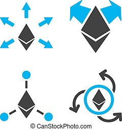 Ethereum Payout Vector Icon Set - Ethereum Payout vector...