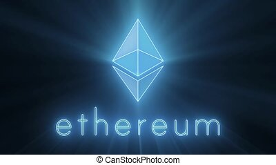 Ethereum Shining Logo Loop