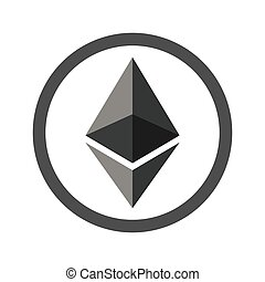 Ethereum sign flat icon for internet money