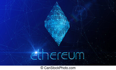 Ethereum Sign in Blue Cyberspace
