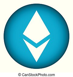 Ethereum sign on white. - Ethereum sign on white background....