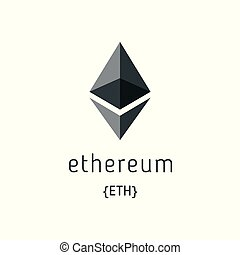 Ethereum Symbol Vector Icon. Ethereum crypto currency coin...