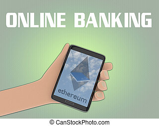 Ethereum - virtual banking concept
