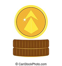 Ethereum virtual money. Cryptocurrency. Vector illustration...