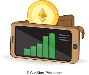 Ethereum Wallet - Ethereum Cryptocurrency Coin Digital...