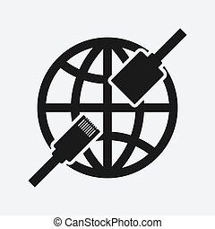 Ethernet connector network symbol. vector illustration - eps...