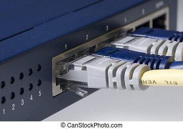 ethernet, kabel, router