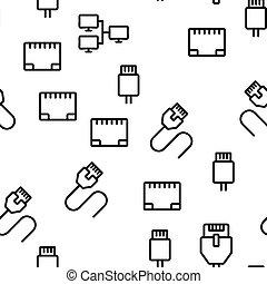 ethernet, seamless, vetorial, padrão