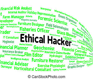 Ethical Hacker Indicates Contract Out And Attack - Ethical...