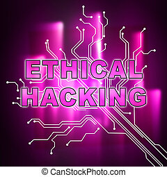 Ethical Hacking Data Breach Tracking 2d Illustration Shows...