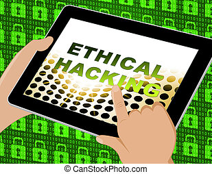 Ethical Hacking Data Breach Tracking 3d Illustration