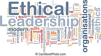 Ethical leadership background concept - Background concept...