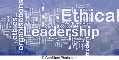 Ethical leadership background concept - Background concept ...