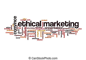 Ethical marketing word cloud concept