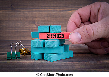 Ethics Business Concept With Wooden Blocks