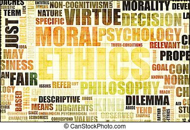 Ethics Concept Idea as a Background Illustration
