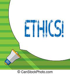 ethics., równość, handlowy, fotografia, pokaz, pisanie, principles., konceptualny, moralny, ręka, inny, showcasing, waga, posiadanie, utrzymując