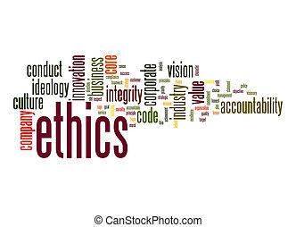Ethics word cloud