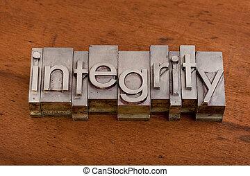 ethiek, concept, integriteit, of
