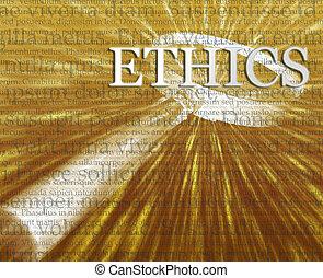 ethiek, zoeken, illustratie