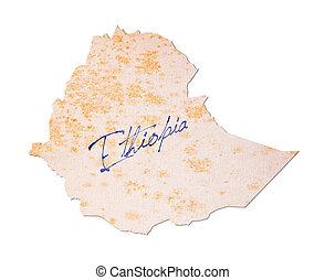 ethiopië, -, oud, papier, met, handschrift