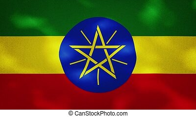 Ethiopia dense flag fabric wavers, perfect loop for background