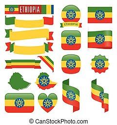 Ethiopia flags