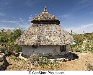 ethiopia., house., tradicional, karat, ethiopian, konso.